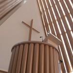 紙の力は偉大。紙で作られたクライストチャーチ大聖堂(仮設)。